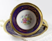 Antique Teacup and Saucer - Collingwood Tea Cup - English Bone China 11682