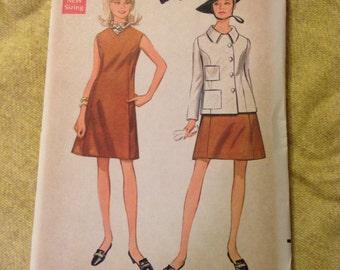 "Vintage Butterick 4772 Princess Seam Coat & Dress Sewing Pattern 36"" Bust FF"