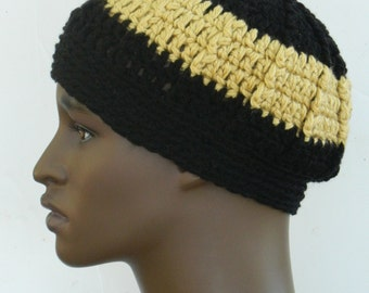 Beanie Hats Men's Winter Caps Teen Boys Caps Head warmers Thick Beanies In Black And Gold