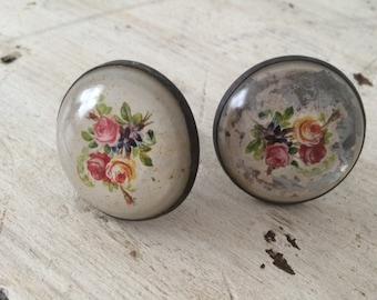 Vintage Floral Knobs - Set of 2