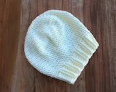 Custom order for Crystal Four Crocheted Slouch Hats: Cream, Black, Brown, Grey