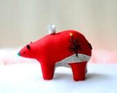 holiday spirit bear - bear soft sculpture