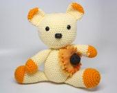Crochet Bear Doll / Yellow Teddy bear / Handmade Bear Plush / Bear Doll / Teddy Bear Amigurumi - Ready to Ship