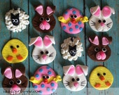 EDIBLE (Fondant Toppers) - Easter