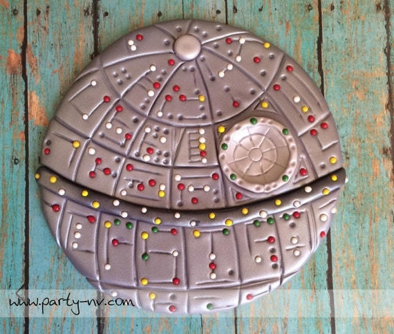 Edible Fondant Cake Toppers Death Star Inspired