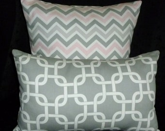 2 DECORATIVE PILLOW COVERS,Throw Pillows, Home Decor, Cushion Covers - Set of Two