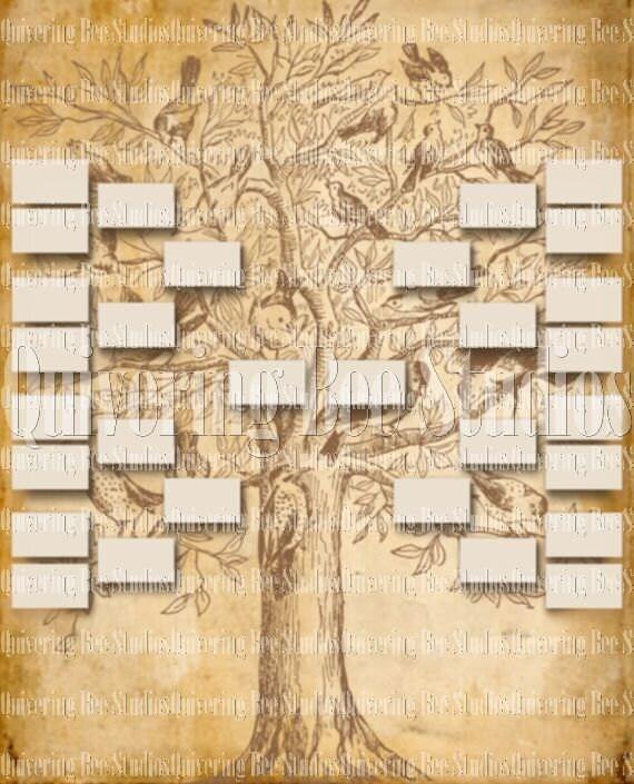 Family Tree Template Digital