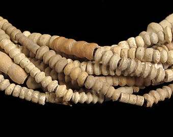 Tomb Terracotta Clay Beads Mali African 5 Strands 60651