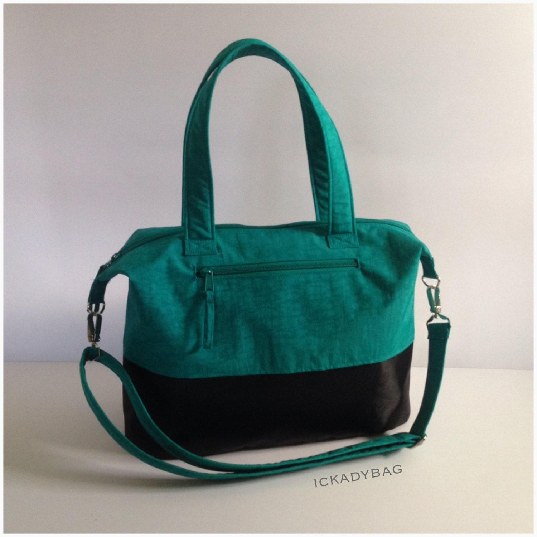 sale teal black diaper bag baby bag tote bag by ickadybag on etsy. Black Bedroom Furniture Sets. Home Design Ideas