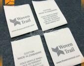 250 custom cotton labels, cotton tags,  cotton tags