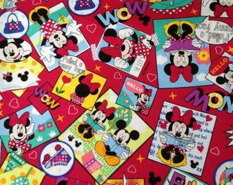 1 Yard  Disney fabric Minnie  mouse printed