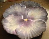 Marcel Guilliot hand painted pansy plate  8.25""