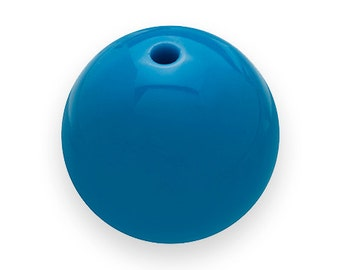 10 Light BLUE GUMBALL Beads 24mm Chunky Beads Resin Bubblegum Vintage Style H56