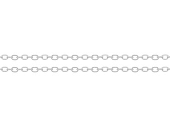 Sterling Silver 1.5x1.4mm Flat Cable Chain - 5ft Strong and Shiny Made in USA 10% discounted  wholesale quantity (6588-5)/1