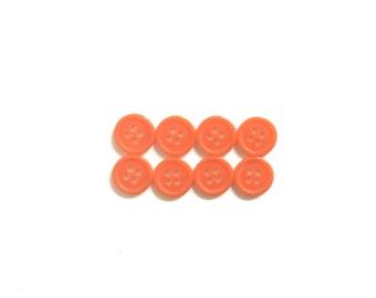 Orange Buttons, 8 Vintage Buttons