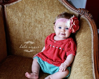 Baby Bloomer Knitting PATTERN, Gracie Style, Lace, Classic, Old Fashioned, Newborn-6 Months, Diaper Cover, Pants, Baby Gift, Girls