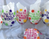 4 Wine Glasses, any saying, personalized
