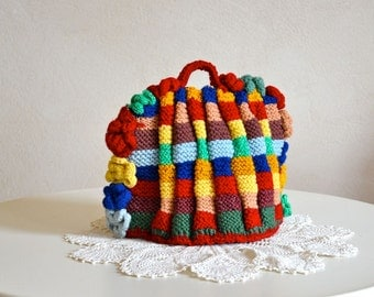 Vintage Hand Knit Small Teapot Cozy Traditional British Style Expertly Made