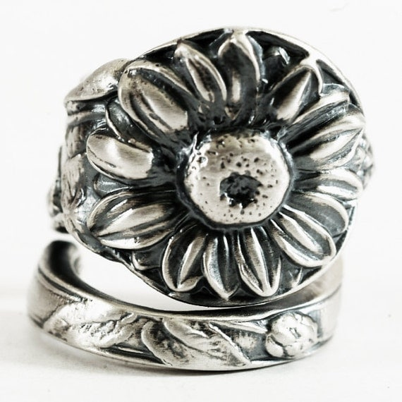 Sunflower Ring Sterling Silver