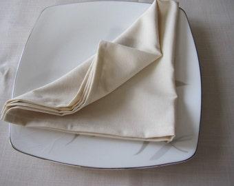 Diner napkins Cream champagne or ivory lightweight viscose blend linen cloth napkin