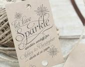 Personalized Sparkler Send-Off Tag - Printable - DIY