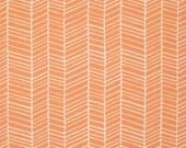 Flora Herringbone in Carrot Orange by Joel Dewberry