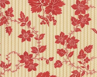 Crazy For Red Ivory Red Etched Floral by Minick & Simpson for Moda