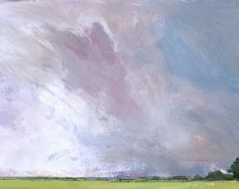 Original skyscape cloud landscape painting - Sky six-temperance