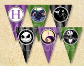 Nightmare Before Christmas Party, Birthday Banner, Instant Download, Printable Party Pack, Jack the Skeleton, Instant Download