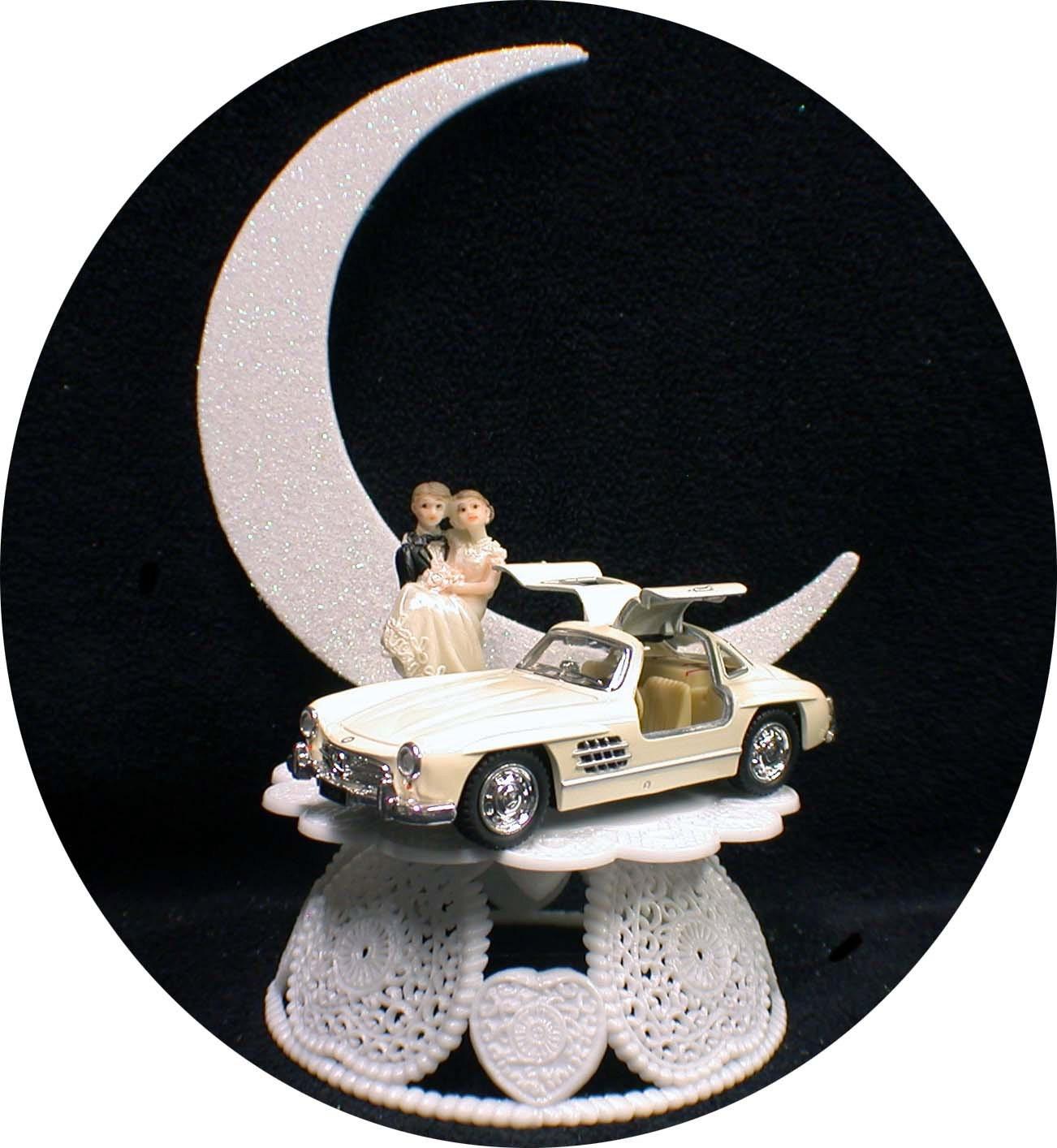 Mercedes BENZ Mechanic Auto Wedding groom CAKE top Topper