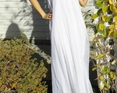White Cloud Double Layered Vintage Nightgown Honeymoon Gown