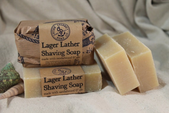 Lager Lather Shaving Soap, Free Shipping w/a item, The Original Lager Lather Soap, Handmade Soap, Beer Soap, Cold Process soap