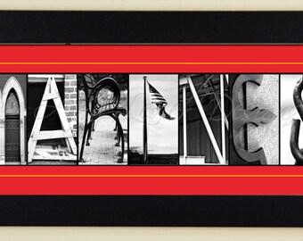 MARINES Alphabet Photography Letter Photos - framed 5x12