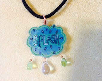 "Cartoon Word Bubble ""Splash"" Necklace"