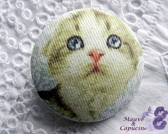 Fabric button, so cute cat