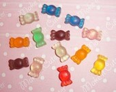 Assorted Resin Candies Handmade Cabochons - 13 pcs