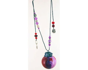 Purple Rose Goddess Wish Ball, Witch Ball, Suncatcher, Friendship Ball, Faerie Fairy Ball