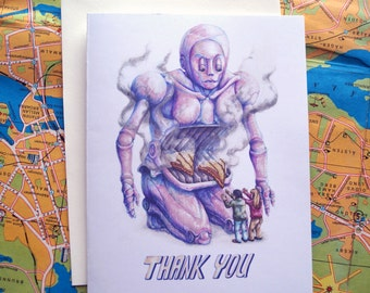 Blessings of Cheese THANK YOU card