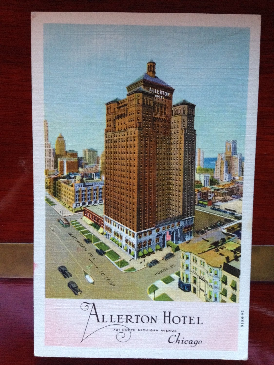 the allerton hotel chicago by 313wmain on etsy. Black Bedroom Furniture Sets. Home Design Ideas
