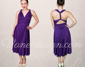 Purple Bridesmaid Dress, Convertible Dress,  Party Dress, Infinity Wrap Dress, Prom Dress, Evening Dress, Summer Dress