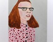 Original acrylic portrait painting // The Parker Series 4 // original art on  6 x 8 panel