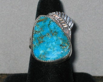 Arizona Turquoise Sterling Silver Ring, Size 8