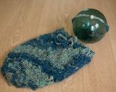 OOAK Newborn Swaddle Sack and Tieback Headband