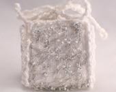 Birthday Gift box white ice blue silver wedding favour box christmas gift box beaded jewel trinket box keepsake box jewellery box