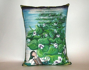 Children's Fairy Tale Pillow Cover -  Jack and the Beanstalk