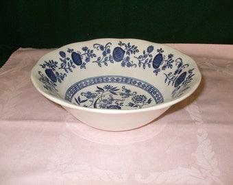 "Vintage Enoch Wedgwood ""Blue Onion"" Vegetable Bowl"