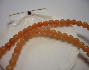 Aventurine beads 4mm, round beads, full strand, peach Aventurine beads, 4mm natural gemstone beads, 4mm beads, special sale