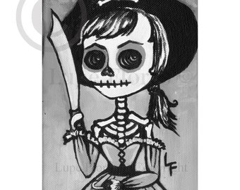 Pirate girl 5x7 print by Lupe Flores