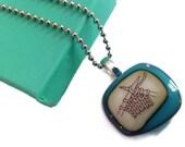 Knitters Handmade Glass Pendant