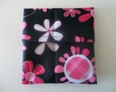 SALE:  PUL Mama Pad Wrapper or Wet Bag - Pink Flowers